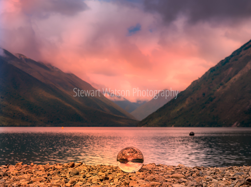 Crystal ball reflections at Lake Rotoiti, Kerr Bay