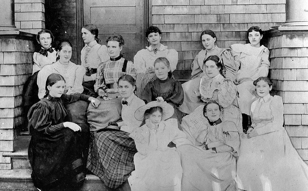 . A photo taken in 1894 of students enrolled in one of the first schools for girls on the coast at Anna Head School in Berkeley, Calif. (Oakland Tribune Archives)