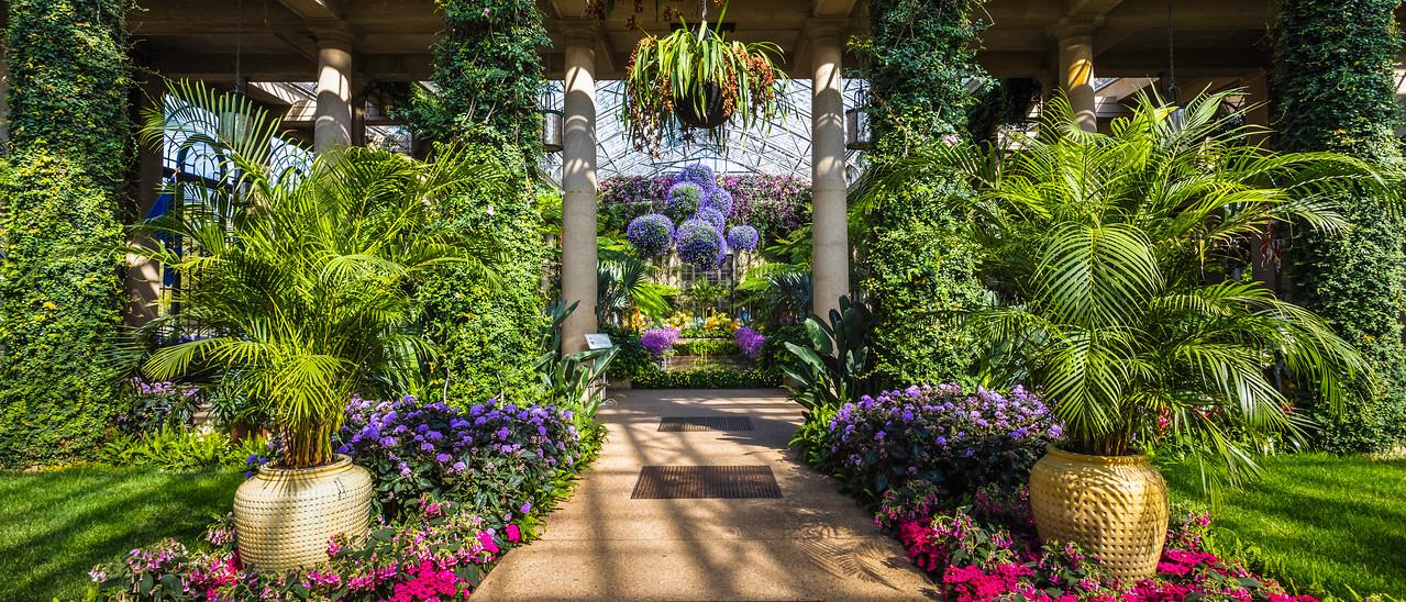 宾州长木公园,温室花园