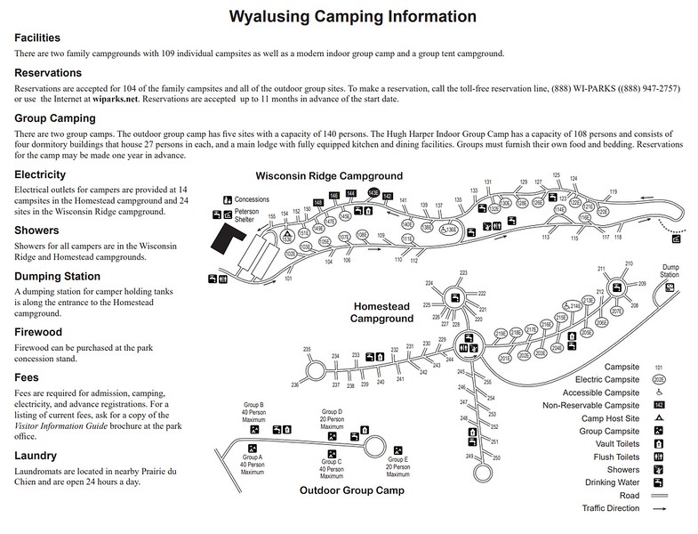 Wyaulsing State Park (Campground Maps)