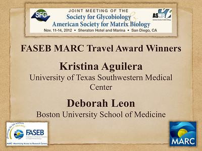ASMB/SFG Joint Meeting 2012: FASEB MARC in San Diego, CA (November 11-14)