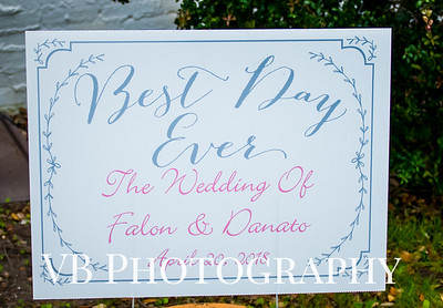 Falon and Danato Wedding - April 2018