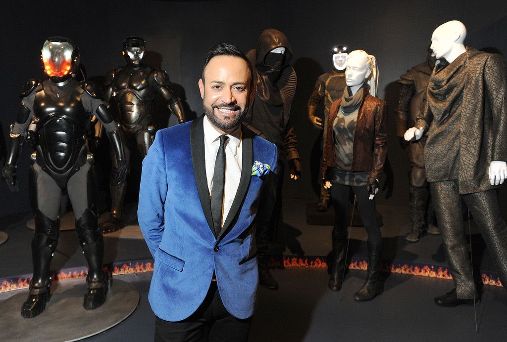 . Nick Verreos talks about fashion and costume design. FIDM/Fashion Institute of Design & Merchandising is hosting the Art of Motion Picture Costume Design, which features 100 costumes from over 20 selected films, including Oscar nominated designs. Los Angeles, CA. February 09, 2014 (Photo by John McCoy / Los Angeles Daily News)