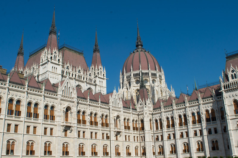 The Hungarian Parliament building - they're fond of pointing out that it's taller than both ours and England's.