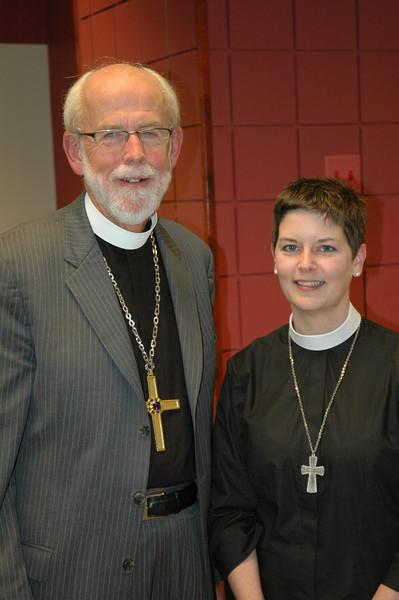 Presiding Bishop Mark S. Hanson with the Rev. Carrie Ballenger-Smith
