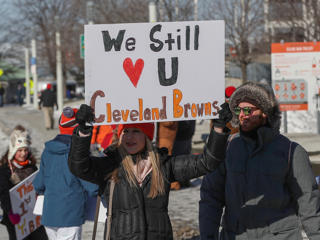 . Tim Phillis - The News-Herald Scenes from the Browns  0-16 parade held Jan. 6 in Cleveland.