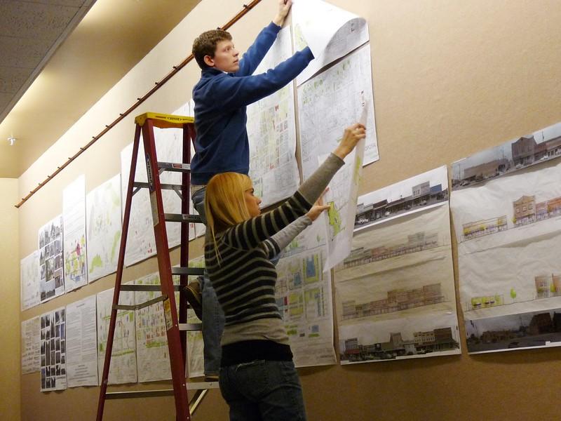 hanging the drawings.jpg