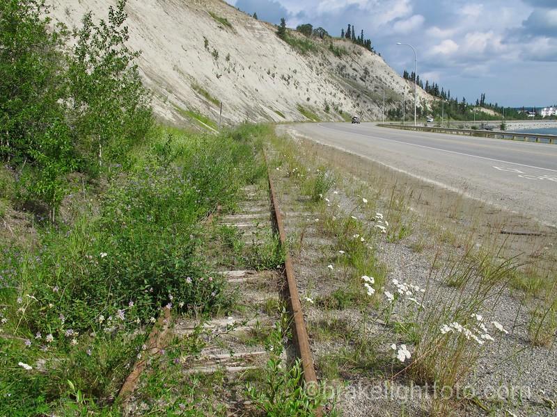 Abandoned WP&YR Narrow Gauge Railway Leading into Whitehorse