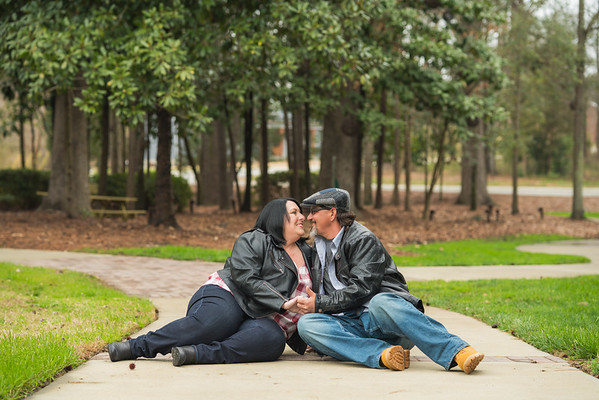Karen & Ken :: Engagement Session :: The Fainting Goat (AO&JO Photography, Raleigh Wedding Photographer)