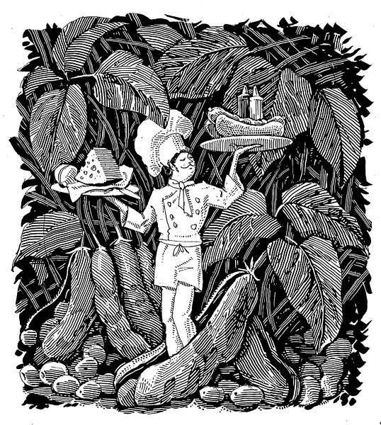 This illustration had something to do with vegetarianism; I think the client was the New York Daily News, c.1996
