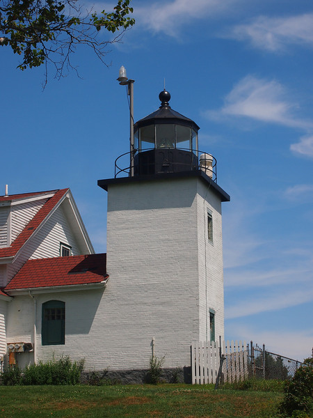 That's a Fresnel lens in this lighthouse! Fort Point, Stockton Springs.