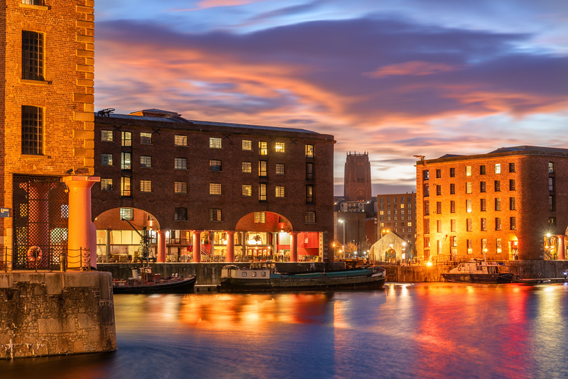 Dawn at Royal Albert Dock, Liverpool