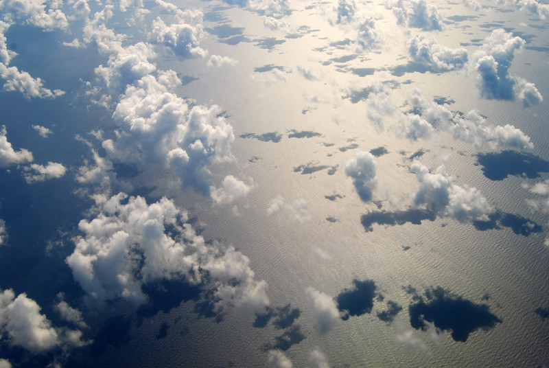 Cloud shadows over Florida straits - Lou Tucciarone