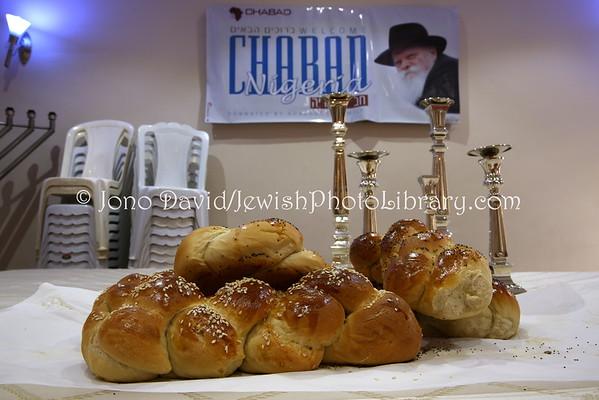 NIGERIA, Abuja. Shabbat preparations, Chabad-Lubavitch of Abuja (8.2015)