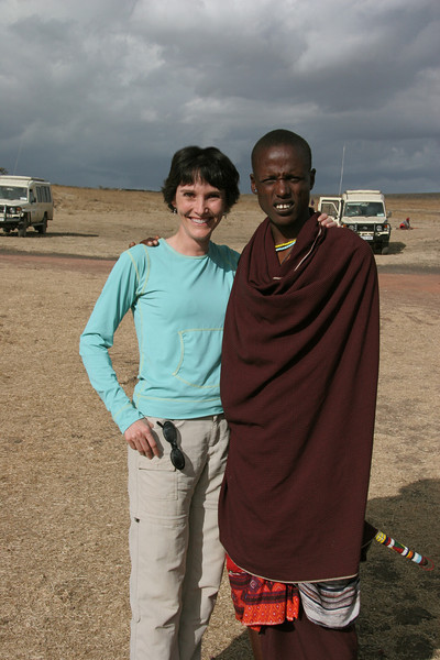 Our Masai guide who will teach us about life in the village.