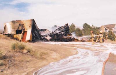 7370 S. Yampa Garage Fire