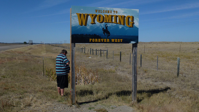 Cache on the border of Wyoming and Montana