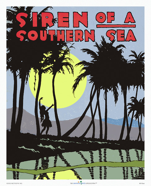 018: 'Siren of a Southern Sea' - Vintage Hawaiian sheet music cover. Ca 1919. Words & Music: Abe Brashen & Harold Weeks The Melody Shop, Seattle