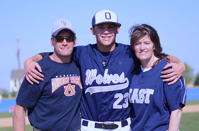 Oswego East boys baseball Senior Night 5-15-12
