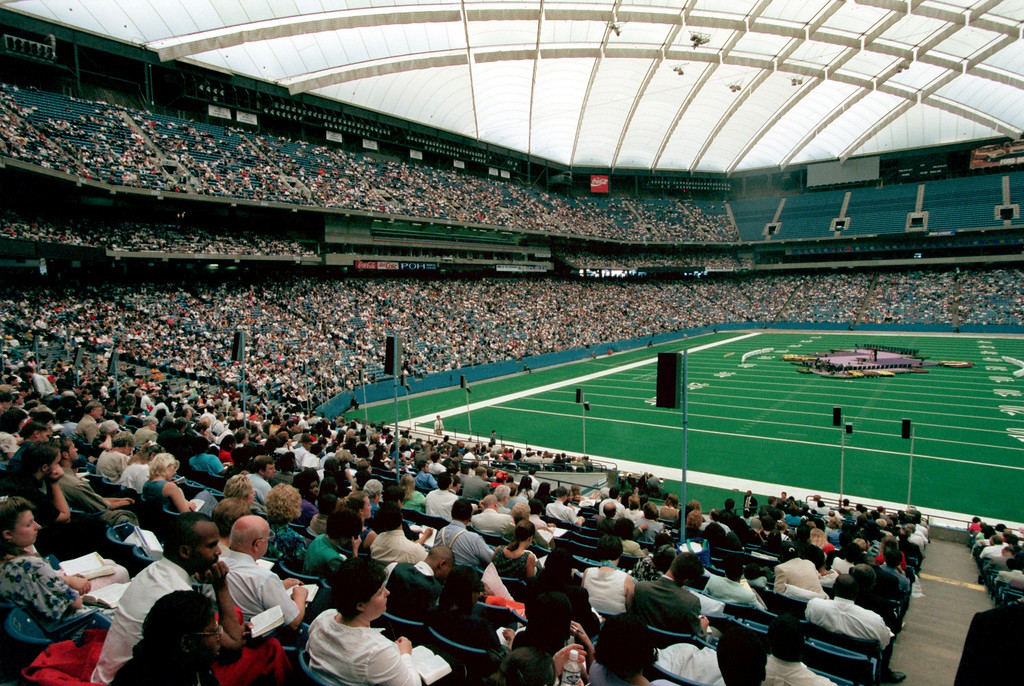 . Jehovah\'s Witnesses at the Silverdome. About 35,000 in attendence today for their \'99 convention.