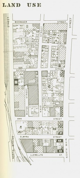 1954, Ann Street Redevelopment Map of Existing Conditions