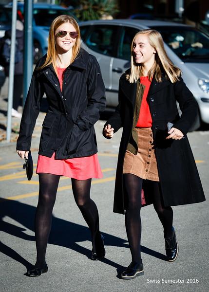 Cara and Lilli in Arona, Italy