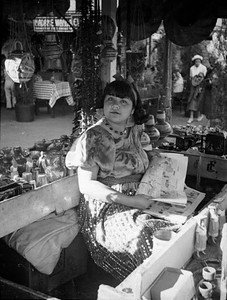 1937, Olvera St., Young Girl Reads Comics