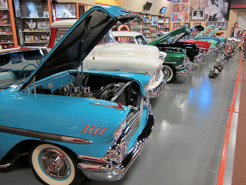 On the way to Utah, in the middle of Nowhere, New Mexico, in the back of a convenience store the size of a shopping mall was this fantastic classic car museum. Go figure.