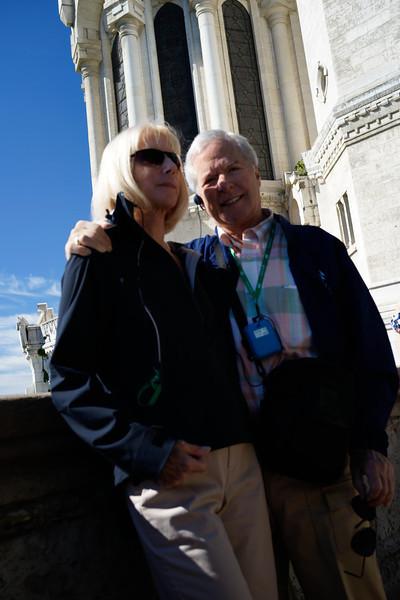 George Kelley and Susan Williams at Basilique Notre-Dame de Fourviere, Lyon, France