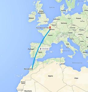 13 September 2015 Paris to Marrakech