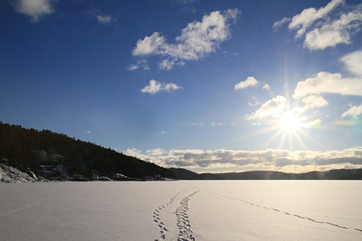 Walk on the ice at Bunnefjord