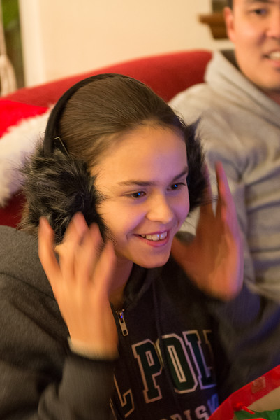 she loves the earmuffs
