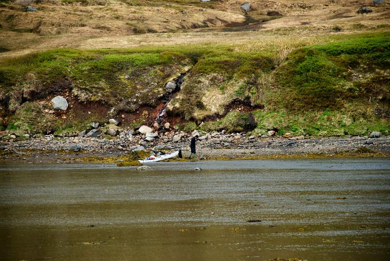 Kayakræðari í Veiðileysufirði
