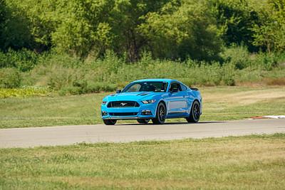 Blue Mustang GT