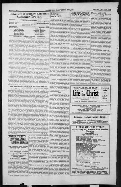 The Southern California Trojan, Vol. 4, No. 6, July 17, 1925