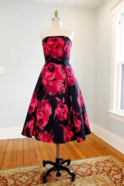 Carola Breckbill's Red Roses on Black Dresses I & II