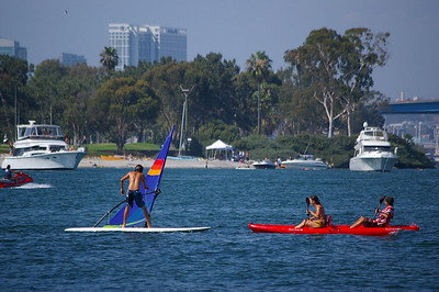 7/19/09 Windsurfing @ Glorietta Bay