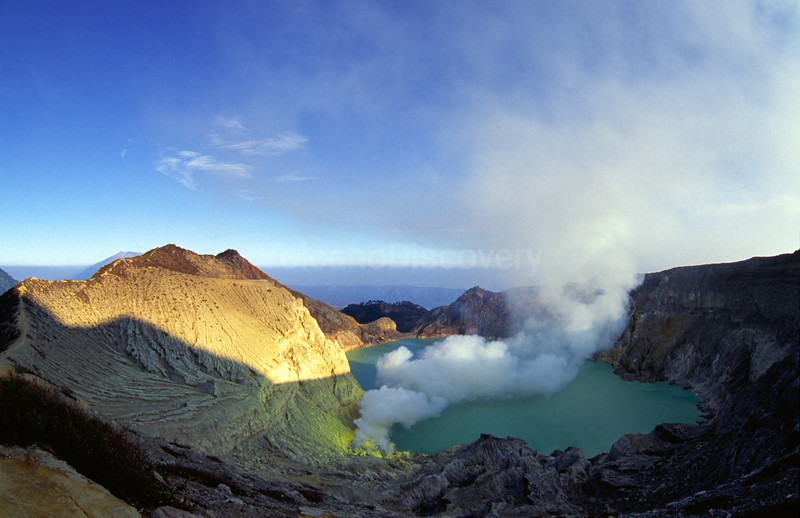 View over the crater