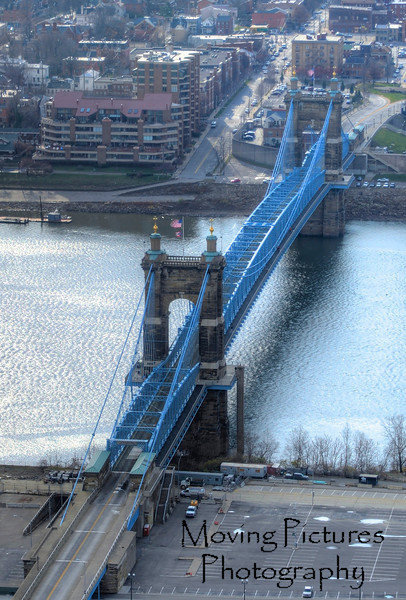 Roebling Suspension Bridge - view from Carew Tower