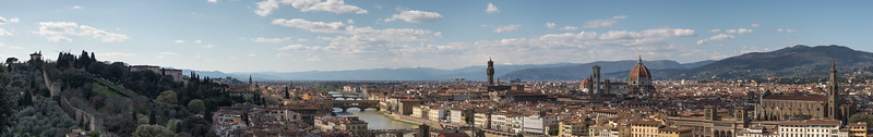 Florence - Piazzale Michelangelo, Firenze, Italy - April 6, 2015