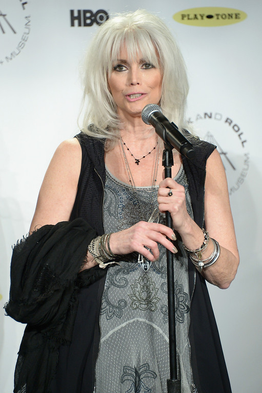 . Recording artist Emmylou Harris attends the 29th Annual Rock And Roll Hall Of Fame Induction Ceremony at Barclays Center of Brooklyn on April 10, 2014 in New York City.  (Photo by Michael Loccisano/Getty Images)