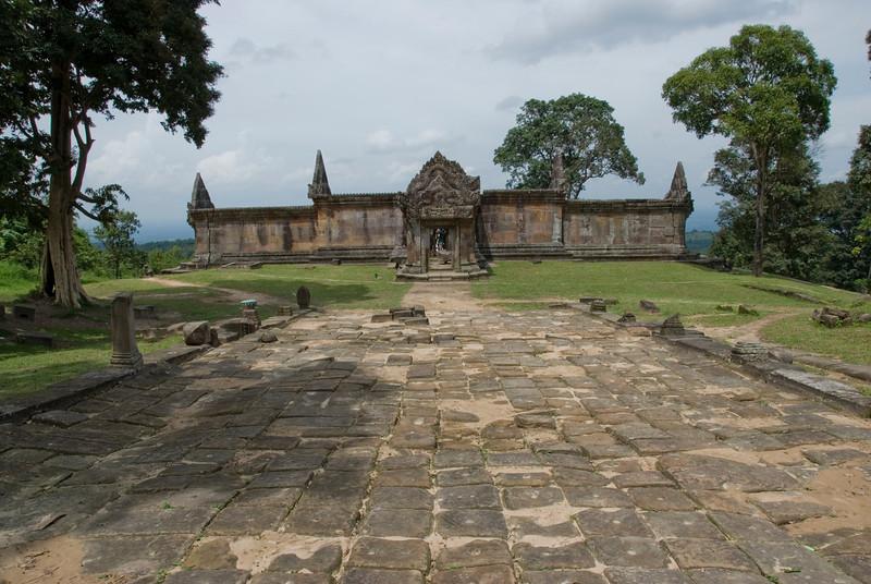 Landscape shot of Middle Ruins in Preah Vihear Temple