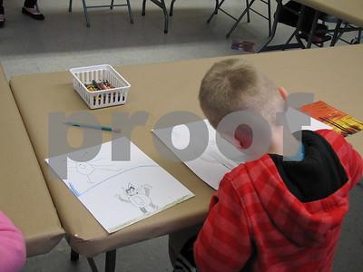 Art class at Blanden/ creativity Saturday
