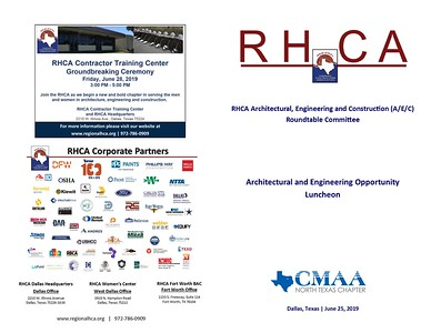 RHCA Architectural and Engineering Opportunity Luncheon 06 25 19