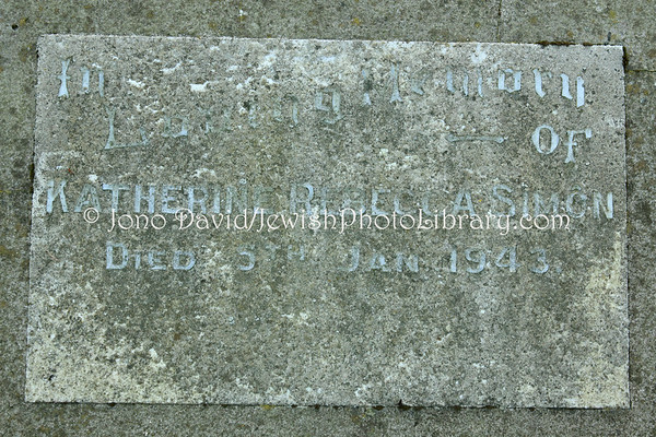 NEW ZEALAND, Dunedin. Jewish Sector, Southern Cemetery. (8.2010)