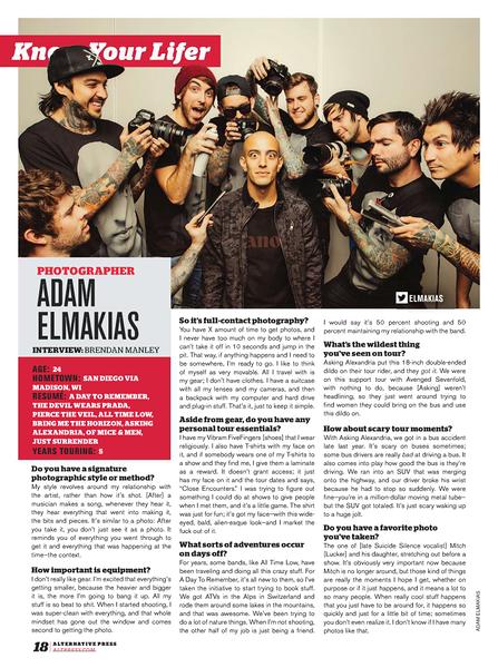 Adam Elmakias feature in AP magazine
