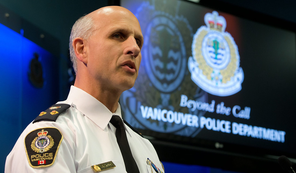 . Vancouver Police Acting Chief Doug LePard announces the death of Canadian actor Corey Monteith during a news conference in Vancouver, British Columbia.    (AP Photo/The Canadian Press, Darryl Dyck)