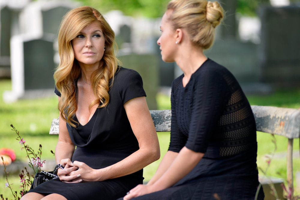 ". This publicity image released by ABC shows Connie Britton in a scene from ""Nashville.\"" Britton was nominated for an Emmy Award for best actress in a drama series on, Thursday July 18, 2013. The Academy of Television Arts & Sciences\' Emmy ceremony will be hosted by Neil Patrick Harris. It will air Sept. 22 on CBS. (AP Photo/ABC, Katherine Bomboy-Thornton)"