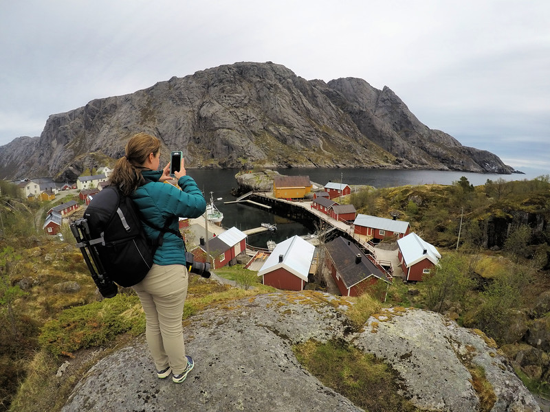 Lina Stock photographing the Lofoten Islands in Norway