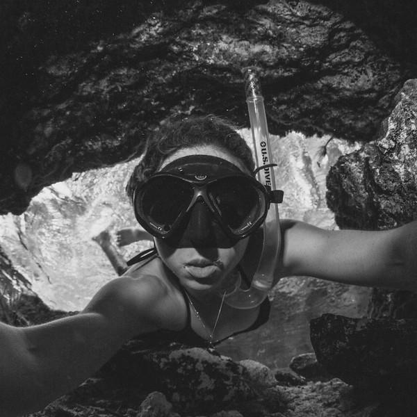 Jennifer Adler underwater